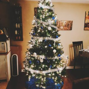 Our YuriOnIce themed tree Decorated it to his theme songhellip