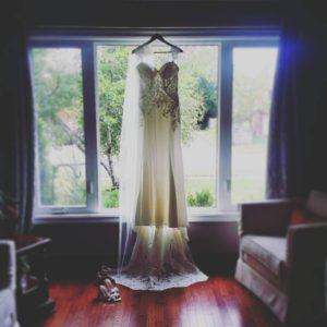 Rainy day bride